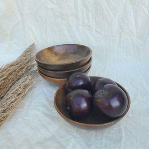 Other - 4 vintage wooden bowls